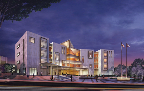 an artists rendering of the new court house